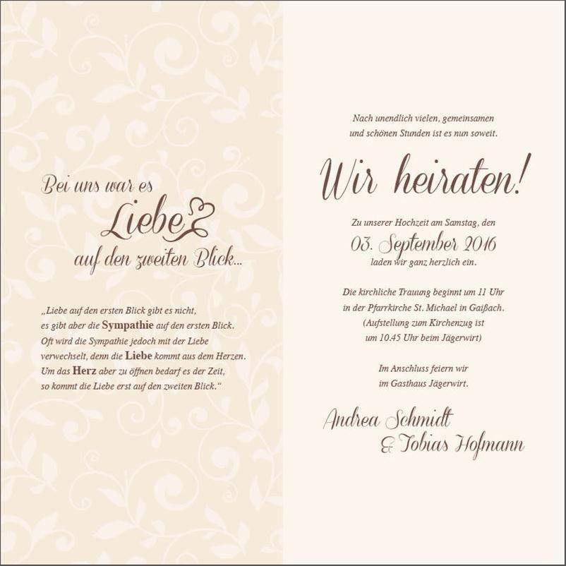 Text Einladungskarten Hochzeit / Die Besten Texte Fur Eure