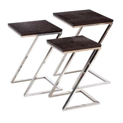 Woodland Imports 3 Piece Nesting Tables | Wayfair