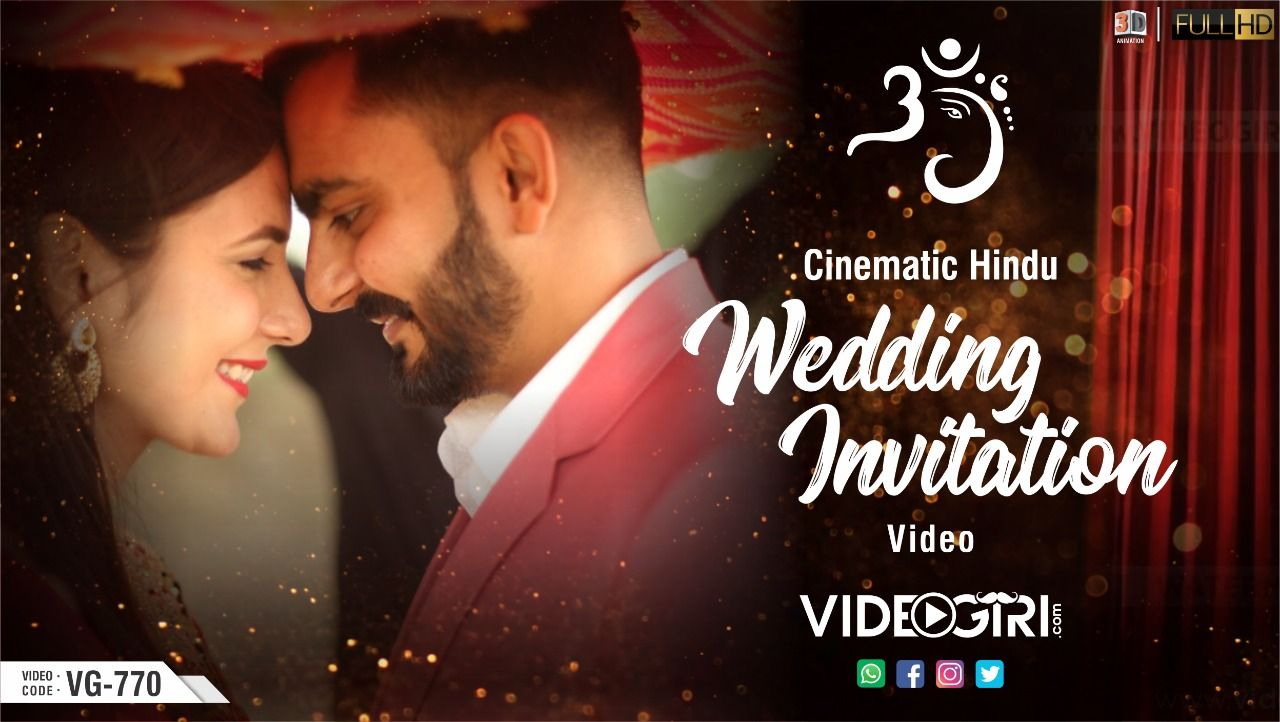 Wedding Invitation Video Makers Marriage Invitation Video Maker Wedding Invitation Video Hindu Wedding Invitations Fun Wedding Invitations