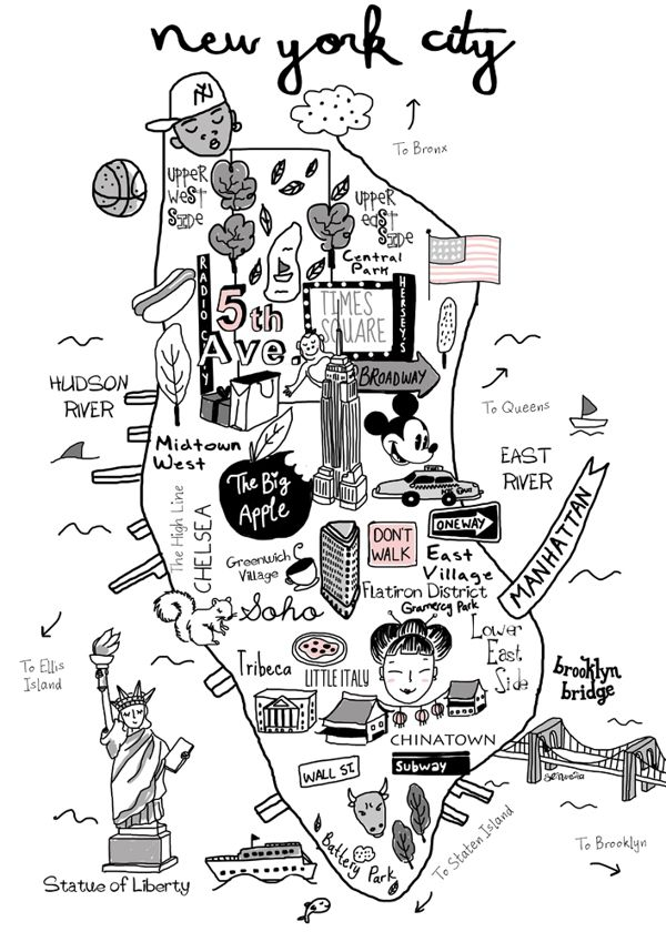 New York City Map My Art Pinterest Behance City And Map - New york city map drawing