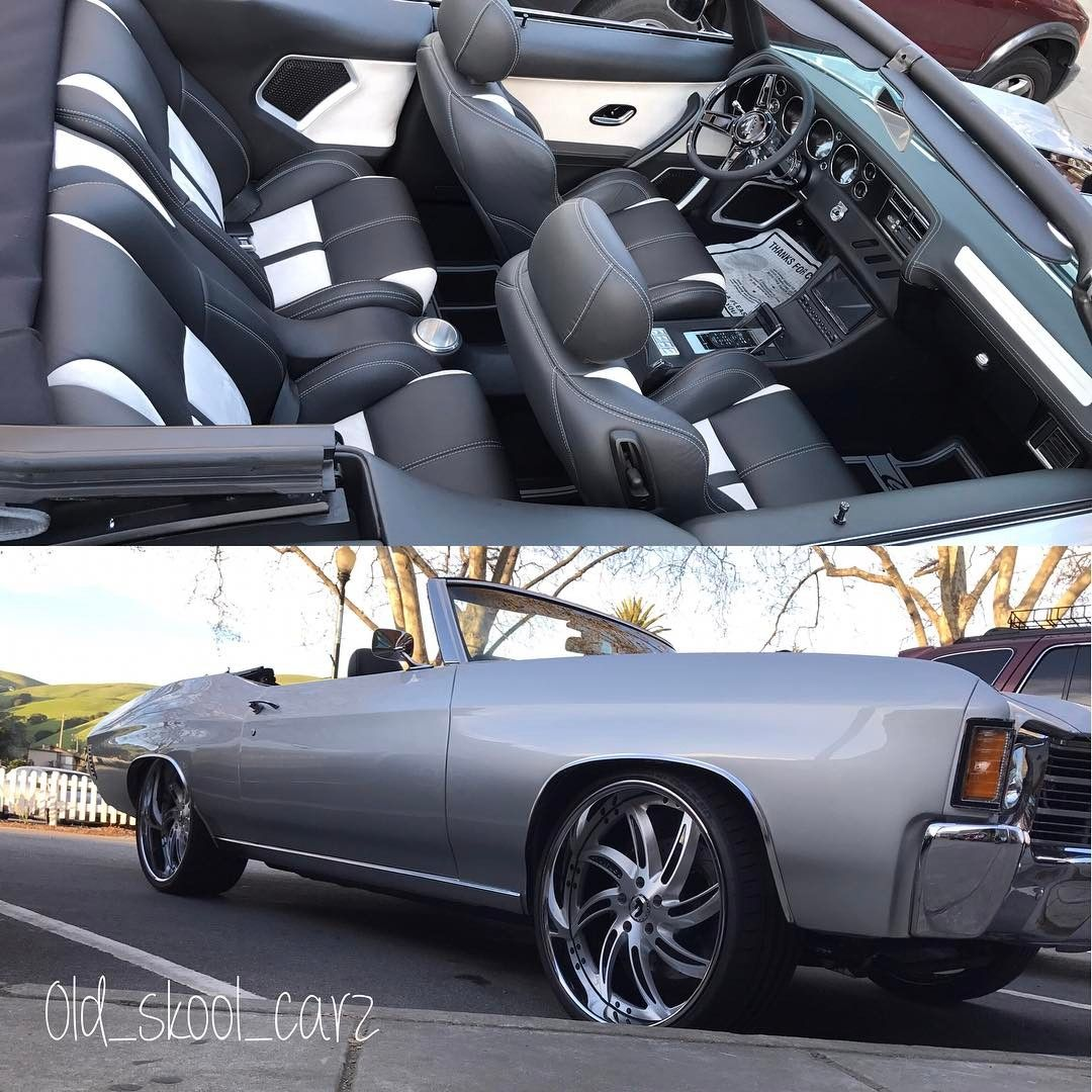 Daniel Williams Djdesigns Chevelle Convertible Becausess Custom Interior Door Panels Console Rear Bucket Seats Black Gre Triumph Cars Chevelle Old School Cars