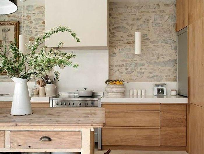 Le mur en pierre apparente en 57 photos en 2018 cuisine pinterest mur en pierre maison - Cuisine mur en pierre ...