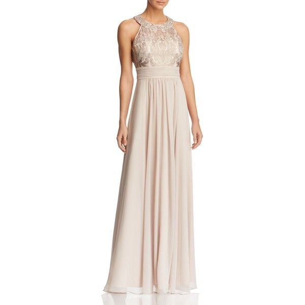 Eliza J Embellished Gown ($265) ❤ liked on Polyvore featuring ...
