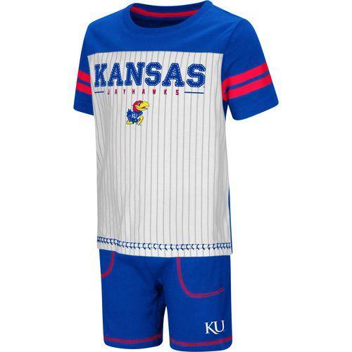 Colosseum Athletics Toddler Boys  University of Kansas Great Bambino  2-Piece Set (White 84f45a172