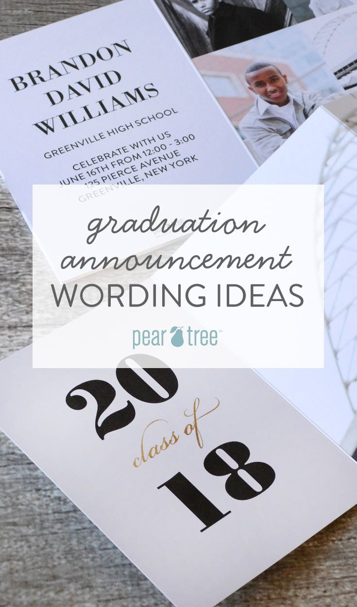 Graduation Announcement Wording Ideas Graduation Announcements And