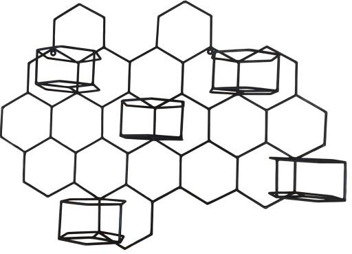 Metalowy Kwietnik Scienny Honeycomb 3 Extend 8930631696 Oficjalne Archiwum Allegro Home Decor Decor