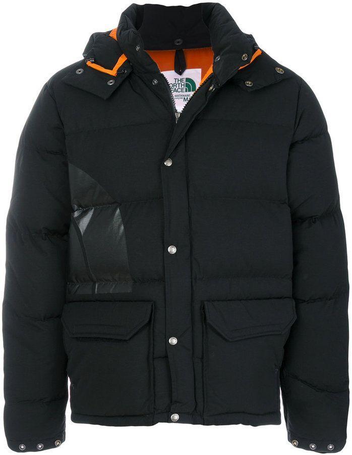 a5bf8514357 Junya Watanabe Comme Des Garçons Man x North Face logo print puffer jacket