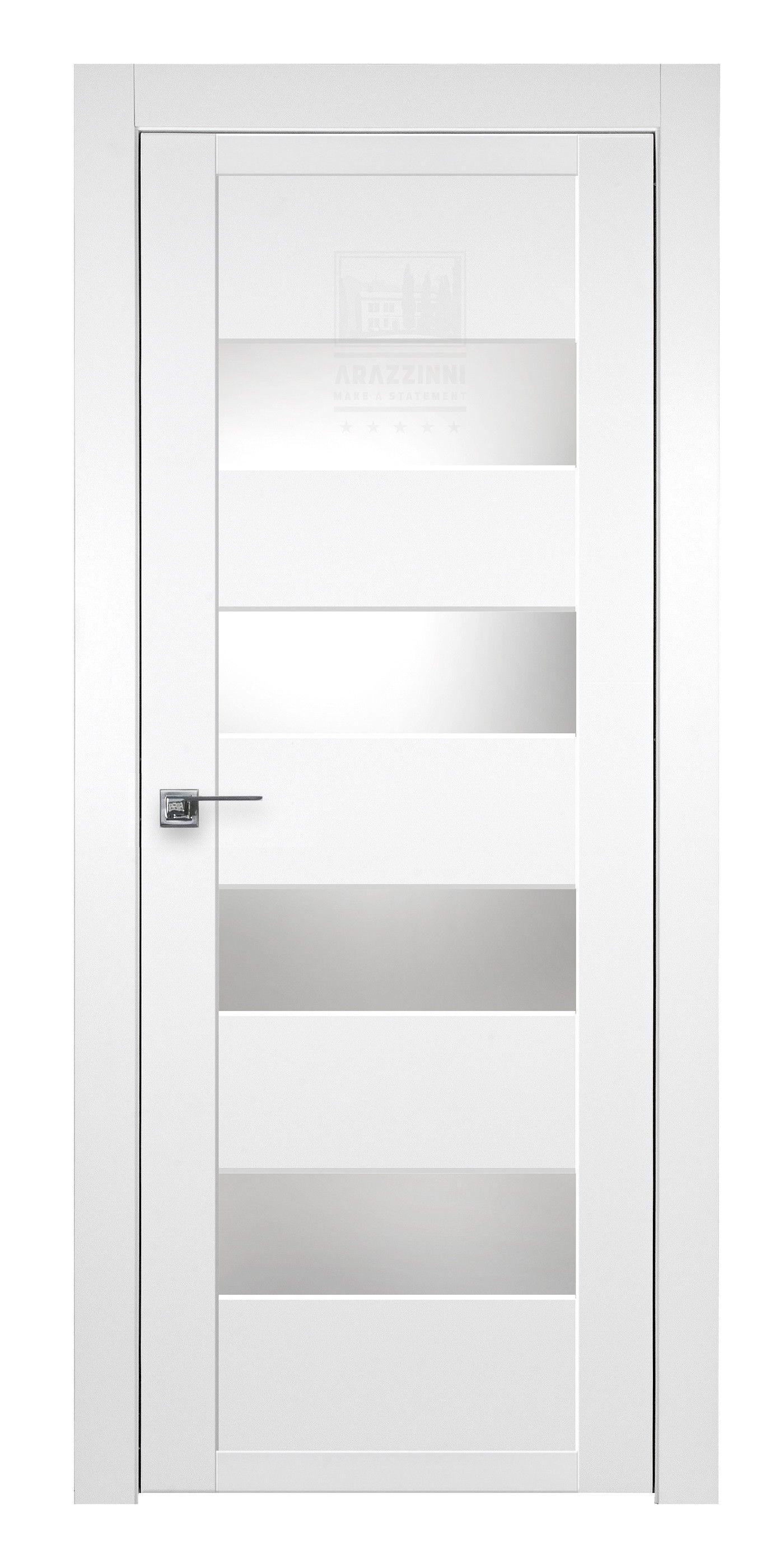 modern white interior door. Arazzinni SmartPro 4G Polar White Modern Interior Door