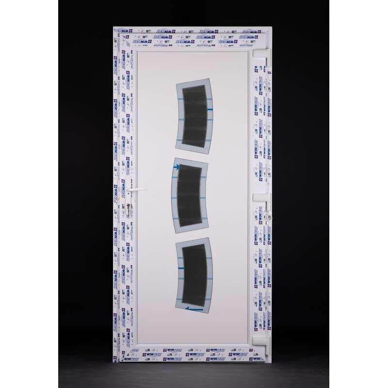 Stainless steel 100 plastic Entrance door 98x208cm # white