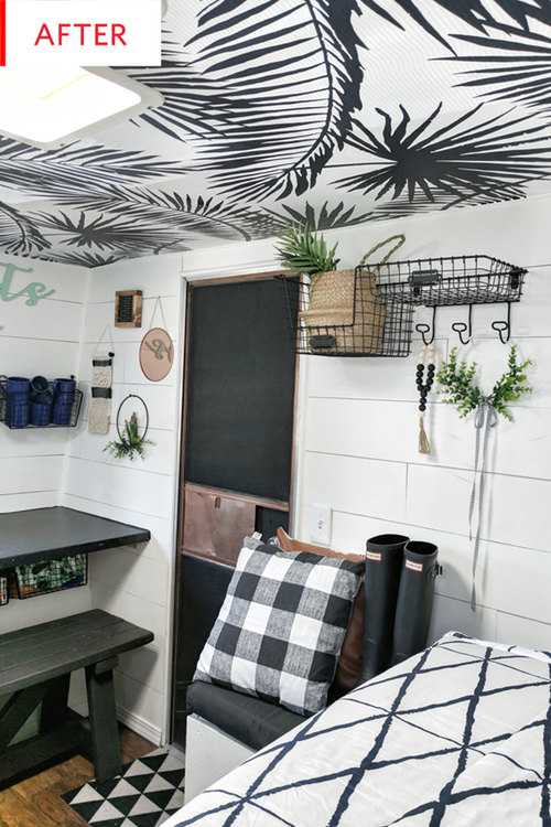 Before and After: This Travel Trailer's $1K Redo Will Knock Your