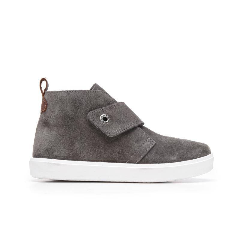 77897e3da7e Boys  Grey Suede Sneaker Booties with White Soles