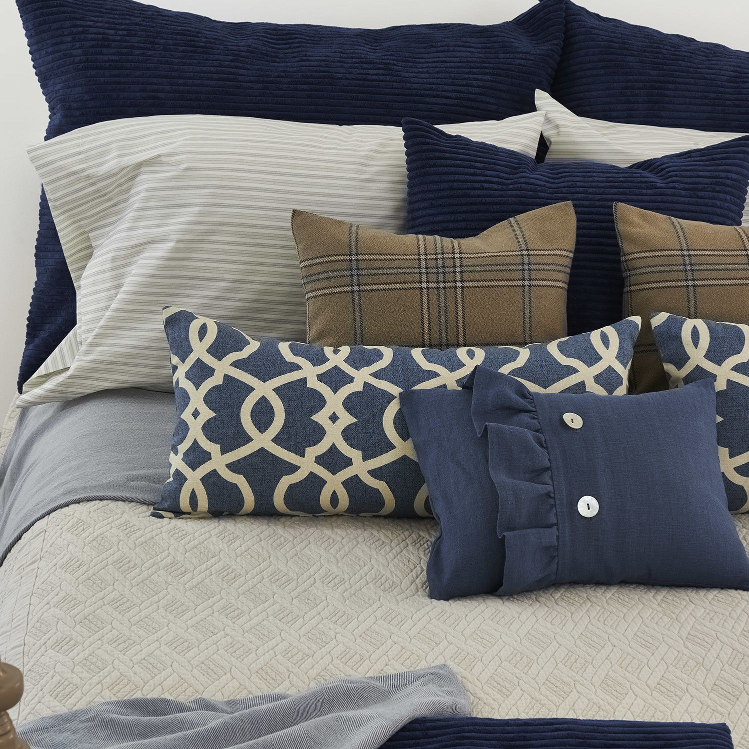 Emory Palmer Linen Coverlet Collection | Wayfair
