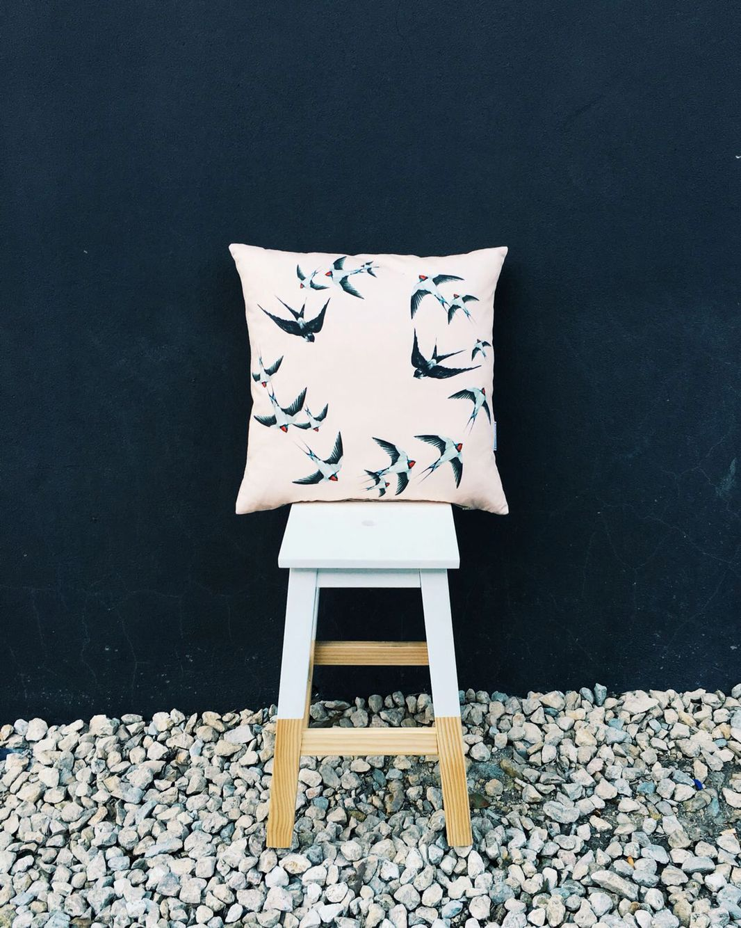"Alma Tatuada Cushion & ""Peúga"" Stool by Pura Cal"