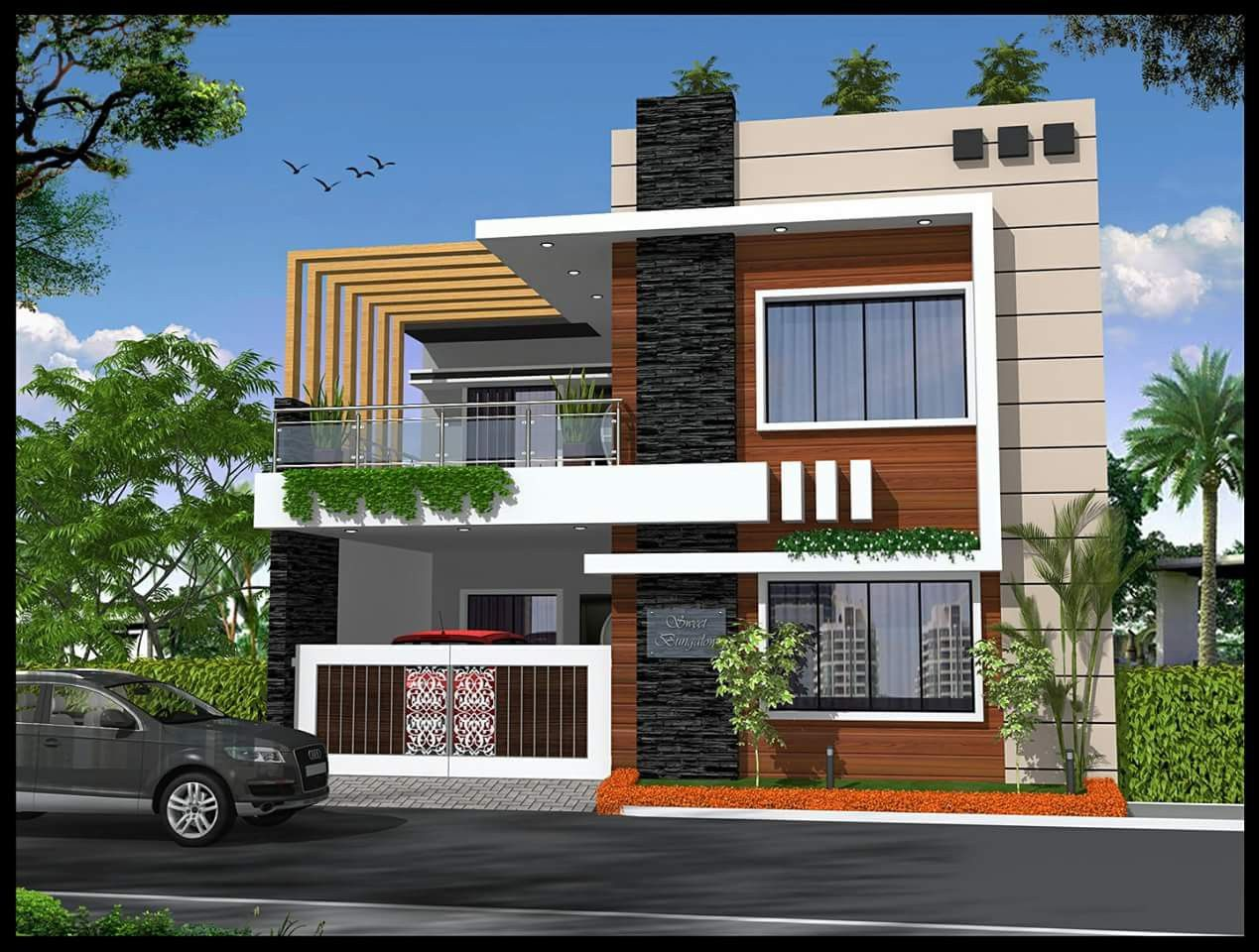 Pin By Adrian Aileen On Elevation 1 Kerala House Design Duplex House Design Modern House Design