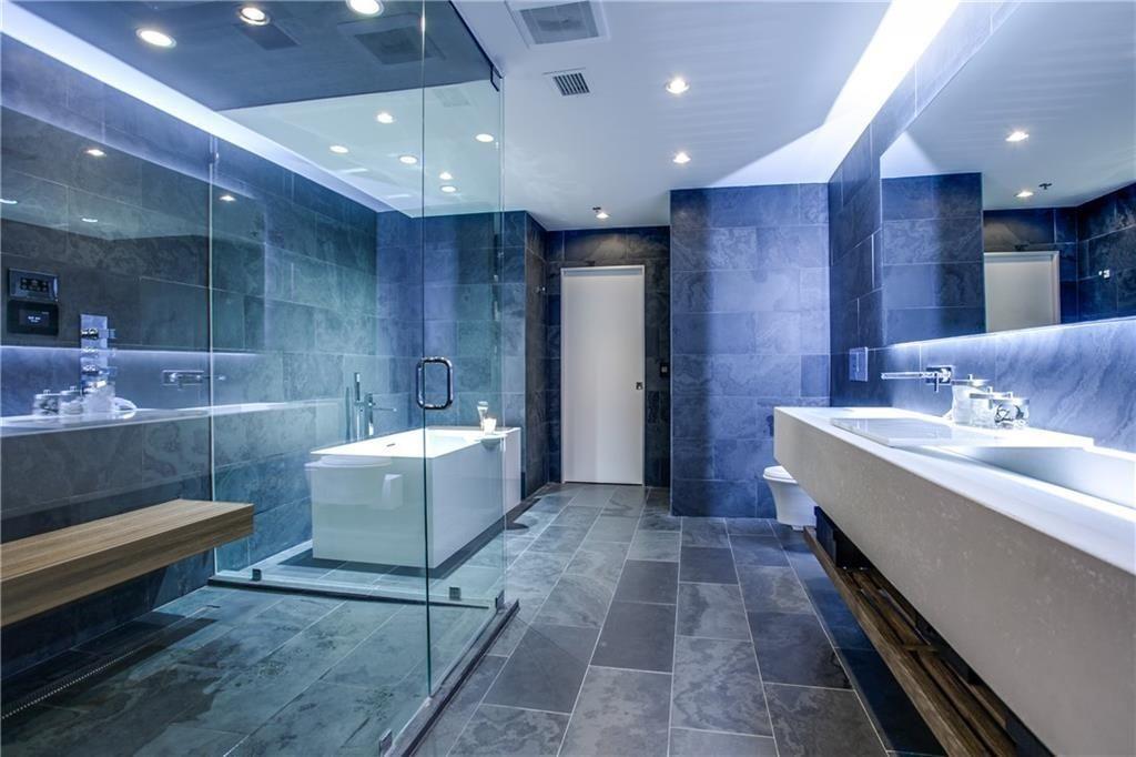 Great Modern Master Bathroom With Slate Tile Floors Frameless Showerdoor In Dallas Tx Modern Master Bathroom Master Bathroom Renovation Bathroom Design
