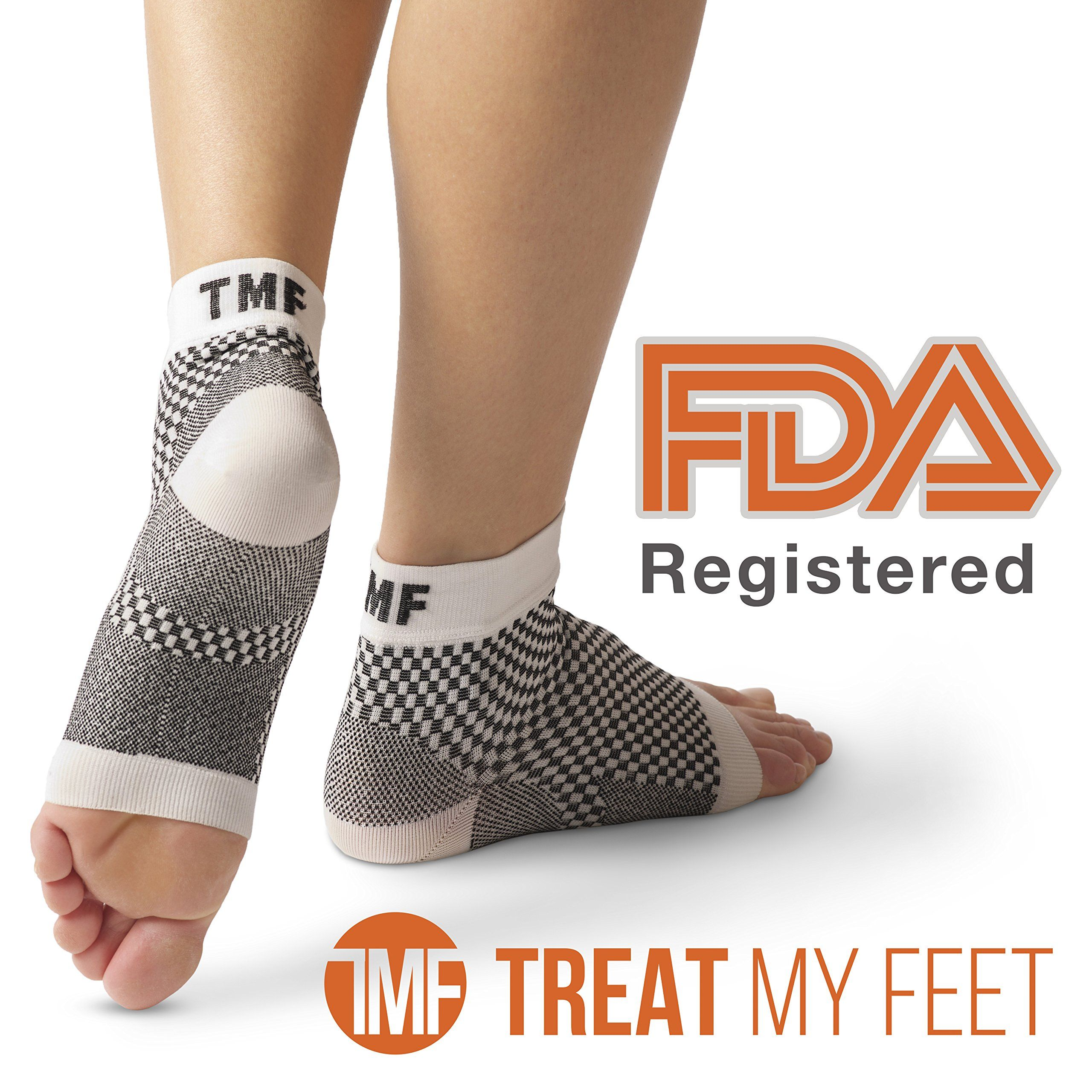 418bd387da5 Amazon.com: Plantar Fasciitis Sleeve & Compression Sock For Feet:  FDA-Registered Stocking For Heel, Ankle, Arch Support (Pair) - Edema Relief  Orthopedic ...