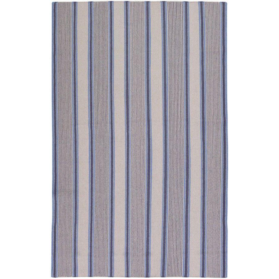 Surya Farmhouse Stripes Navy / Blue Contemporary Rug - FAR7008
