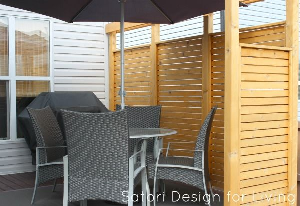 Incroyable Privacy Partition For Deck, Via Satori Design For Living