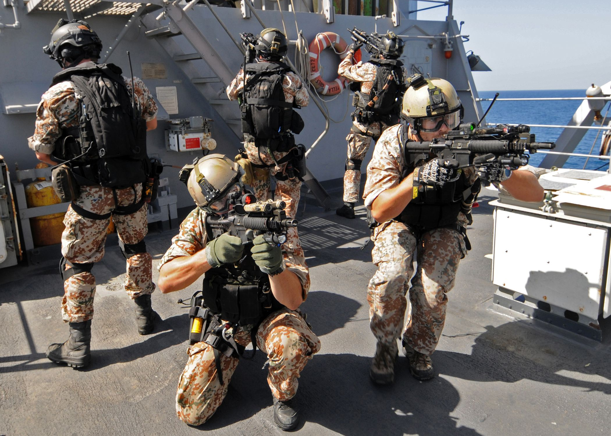 Canadian C8 CQB used by boarding team of the Royal Danish Navy