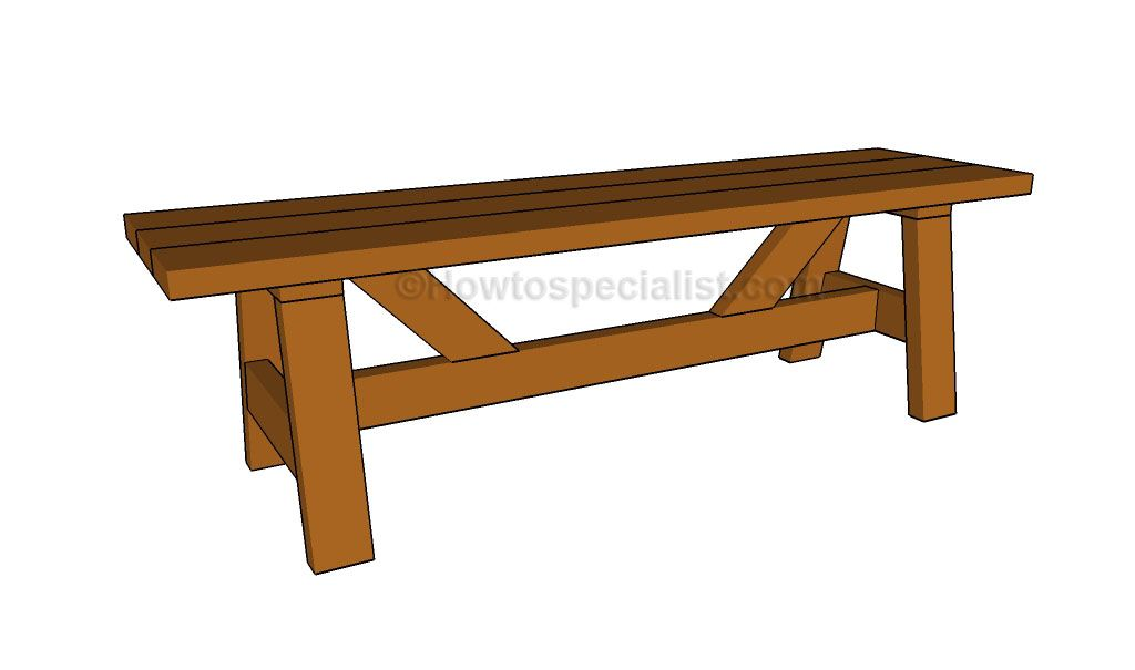 Wooden bench plans for the home pinterest wooden bench plans bench wooden bench plans malvernweather Choice Image