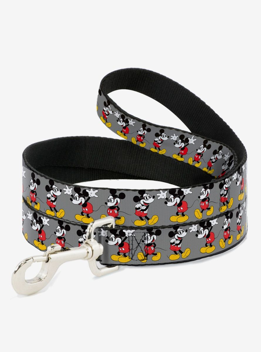 Disney Mickey Mouse Glasses Poses Dog Leash In 2020 Dog Leash