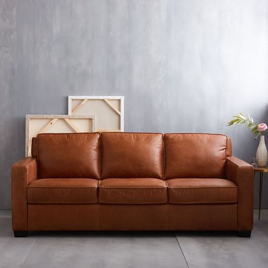 Exceptionnel Henry® Leather Sofa   Tobacco | West Elm