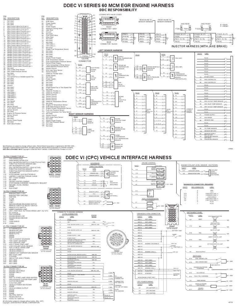 ddec 4 ecm wiring diagram ddec v injector wiring diagram