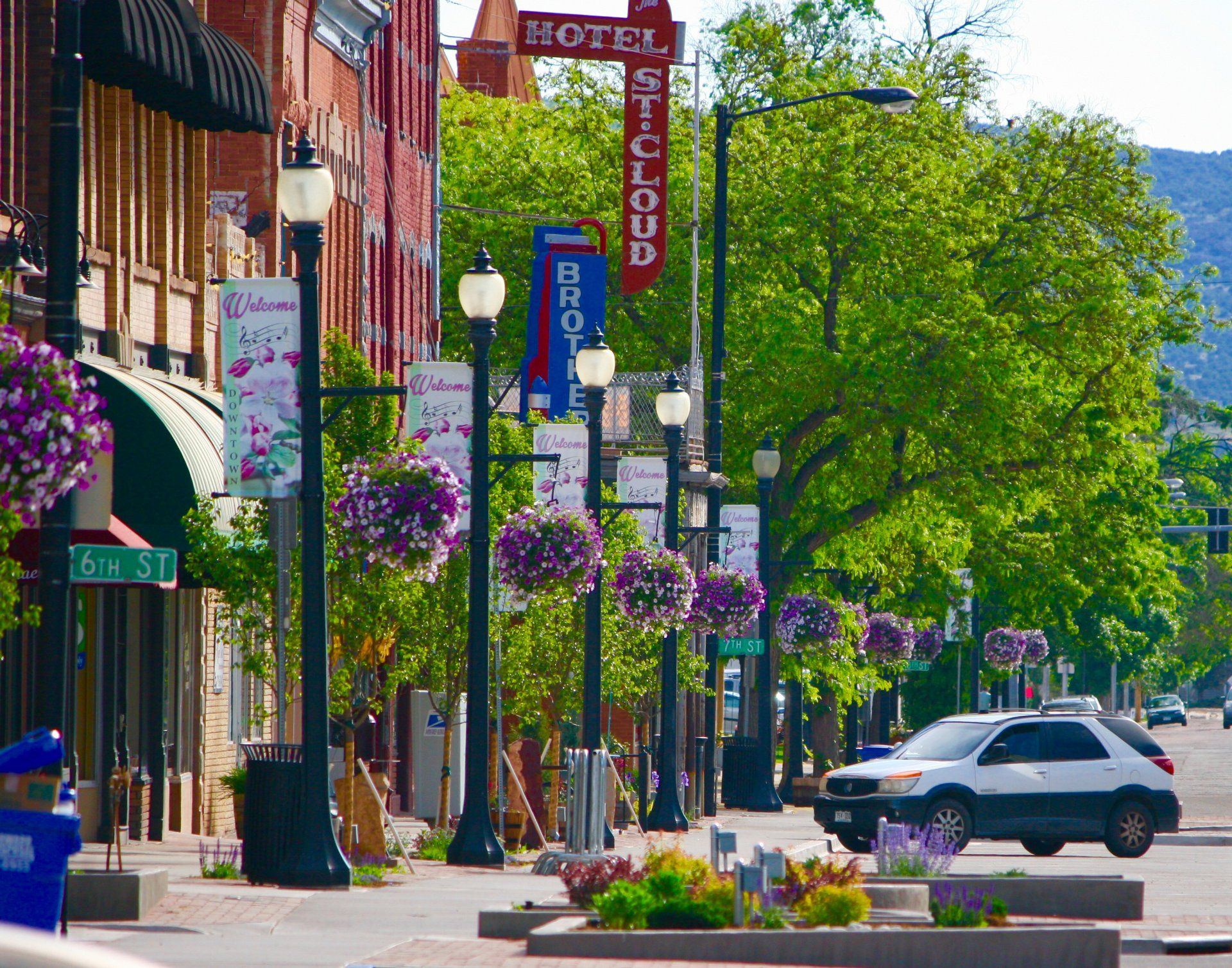 Flower Baskets In Bloom Historic Downtown Canon City Colorado Canon City Canon City Colorado Colorado Native