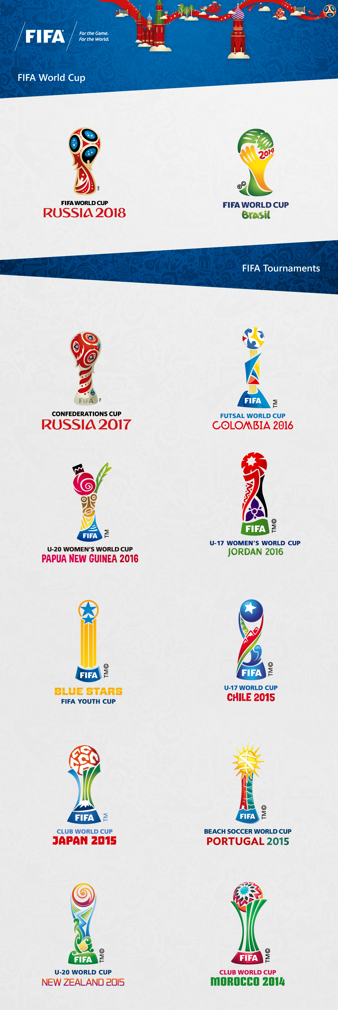 Fifa World Cup Tournaments 2014 2016 On Behance Fifa Fifa World Cup World Cup