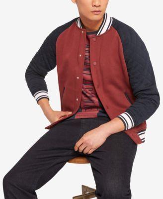 A|X Armani Exchange Men's Embroidered Varsity Jacket - Red XXL #varsityjacketoutfit