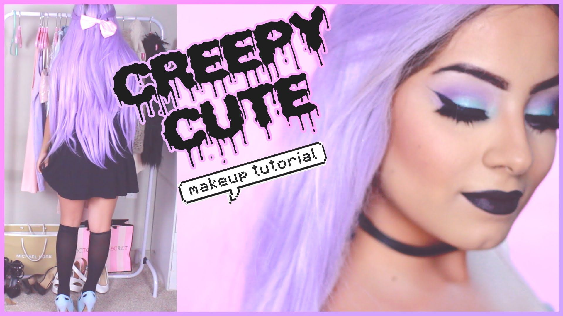 Pastel Goth Makeup Tutorial & Outfit Tumblr Pastel Goth