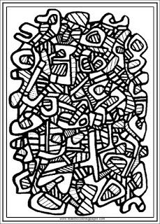 carpet no.2 jean dubufet coloring pages for adults | coloring pages ...