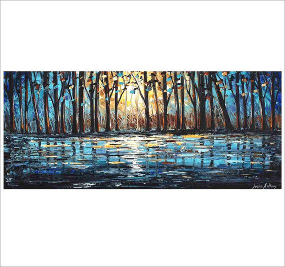 out on the lake 54 large  ORIGINAL  Jolinas  one by jolinaanthony, $449.00