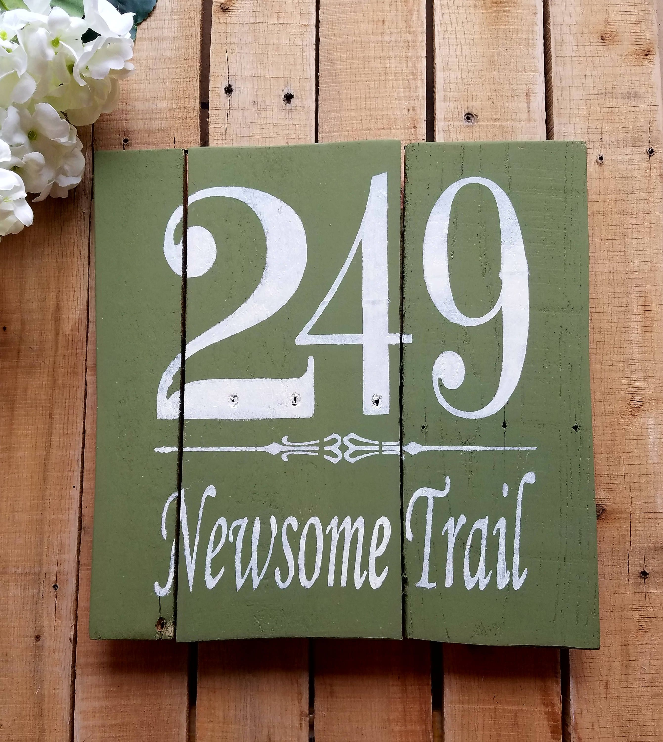 Street Address Sign Street Name House Numbers Sign Painted Etsy Porch Signs Diy Address Sign Handmade Sign