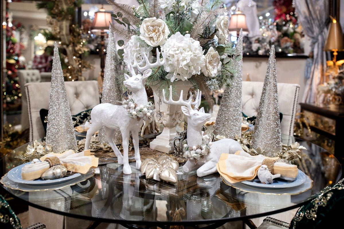 2019 Christmas Open House At Christmas Open House Holiday Table Settings Christmas Christmas Home