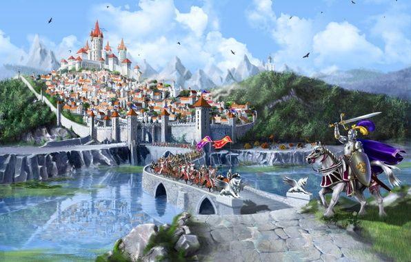 Wallpaper Cg Wallpapers Marina Kecman Middle Ages Fantasy City Castle Srednevekove Fotografii Leto