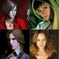 Face Models For Ada And Helena Resident Evil Resident Evil