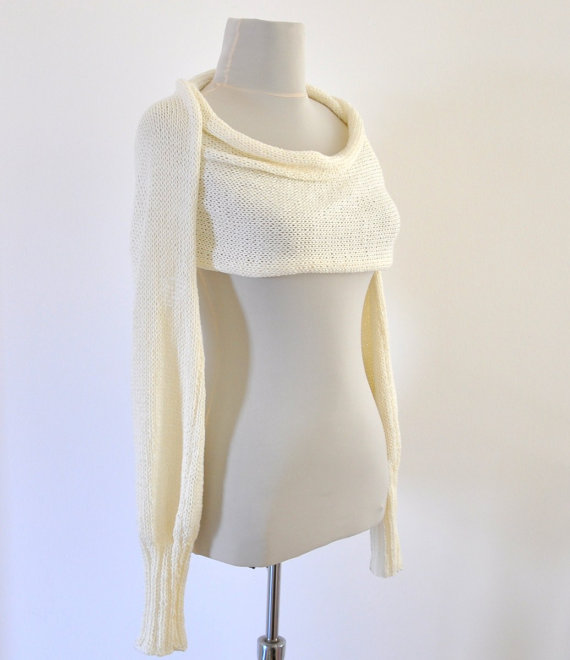 Womens Scarf Sweater Cardigan Wrap Sweater Bridal Shrug Bolero ...