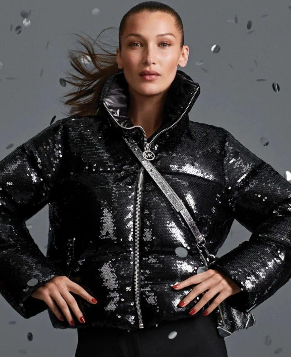Michael Kors Black Sequin Jacket Today S Fashion Item Black Sequin Jacket Fashion Black Sequins [ 1464 x 1195 Pixel ]