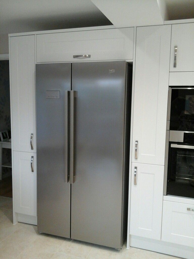Beko Kitchen Appliances Beko Fridge Freezer With 300mm Pull Out Larder Unit Each Side And