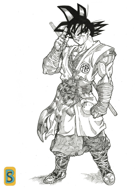 Goku Bruno Camara Cloth Style By Bloodsplach Dragon Ball Artwork Dragon Ball Goku Dragon Ball Art