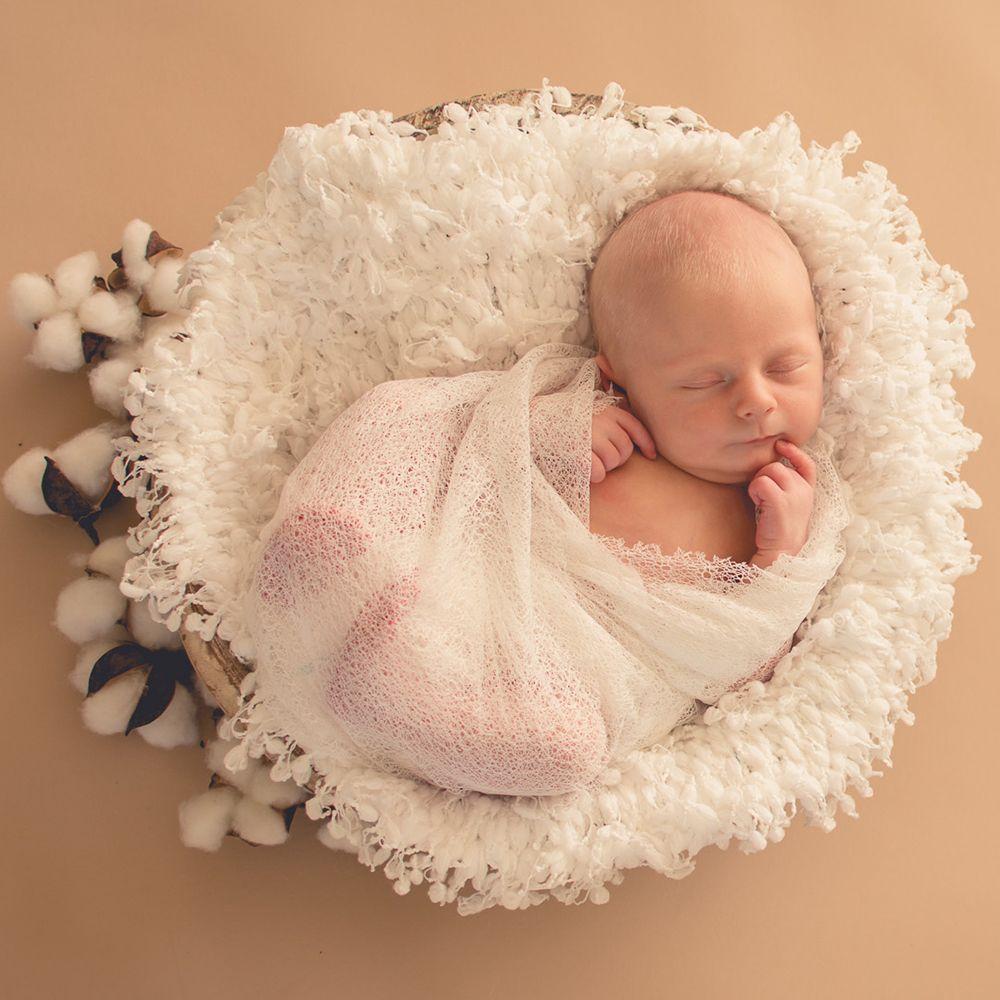 Newborn Baby Soft Fabric Blanket Basket Rug Backdrop Photo Photography Prop