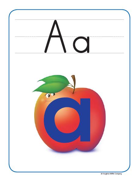 Journey's Alphafriends Alphabet Frieze Cards (pdf) - spanish