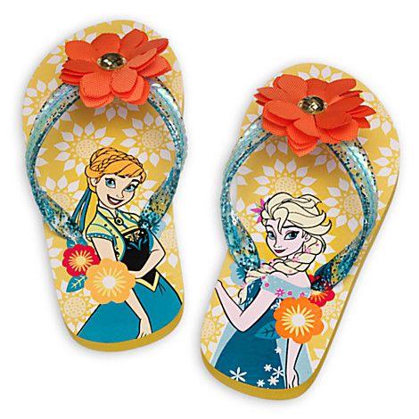 d91f5e35384dfb Anna and Elsa Flip Flops for Kids