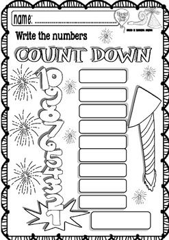 New Year Maths and ELA funny worksheets (pre-K/1st grade ...