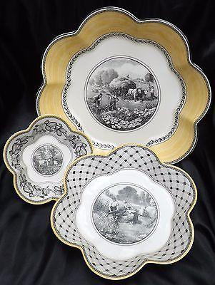 Villeroy & Boch Audun Dinnerware Scalloped Serving Bowls Set of 3 Sm Med Lg