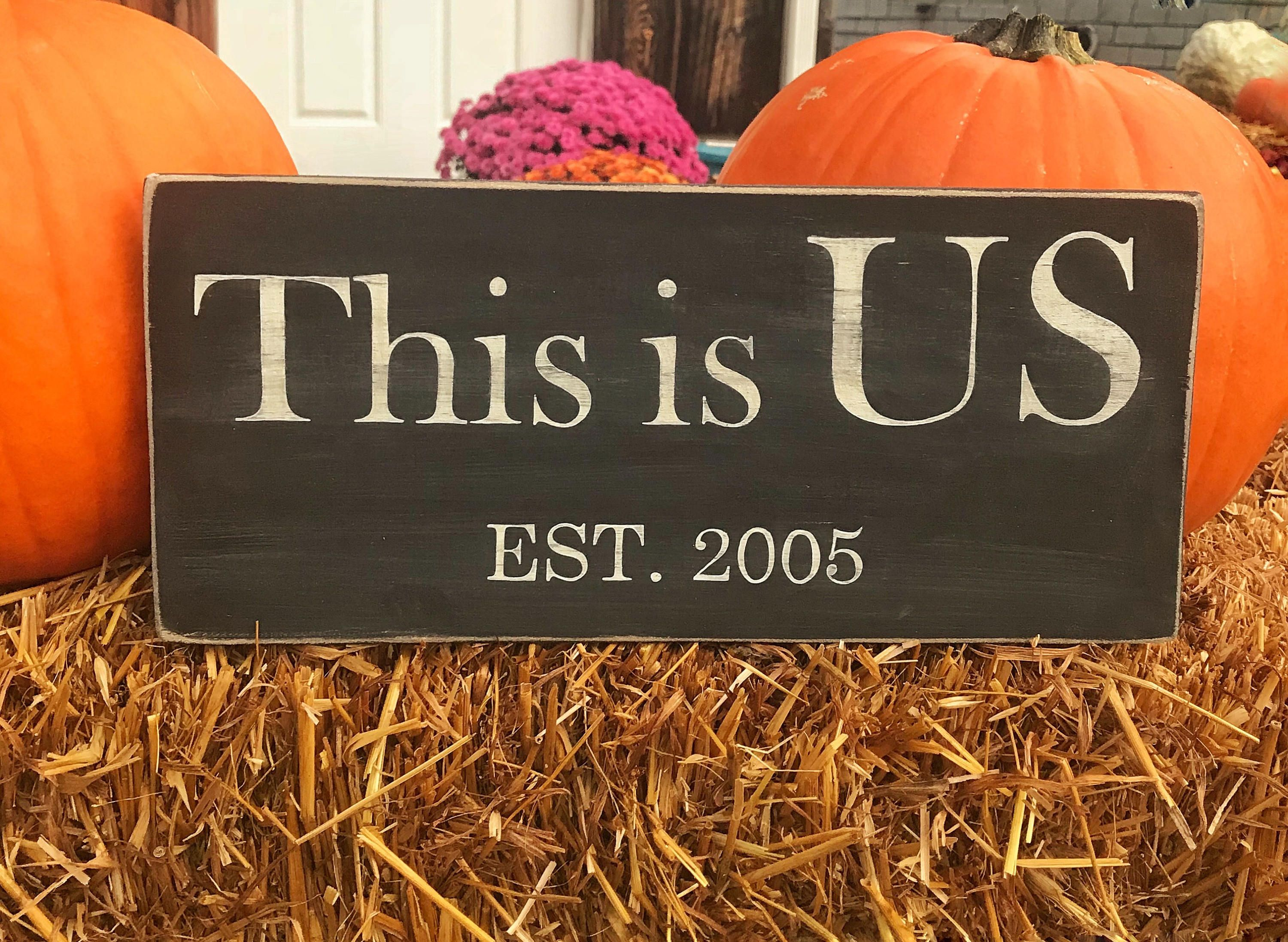This is us / Custom wood signs / Housewarming gift ideas for couple ...