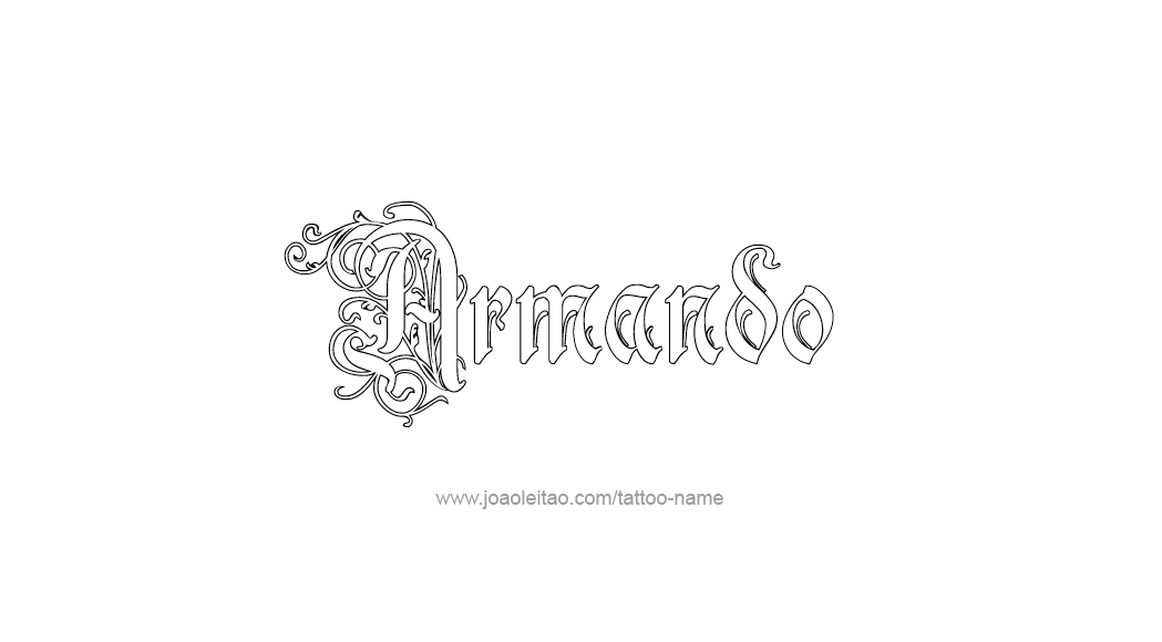 Tattoo Design  Name Armando