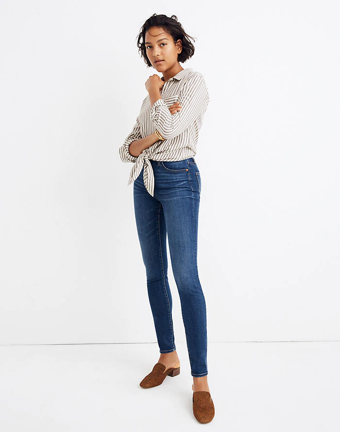 Women's Curvy High-Rise Skinny Jeans in Hayes Wash