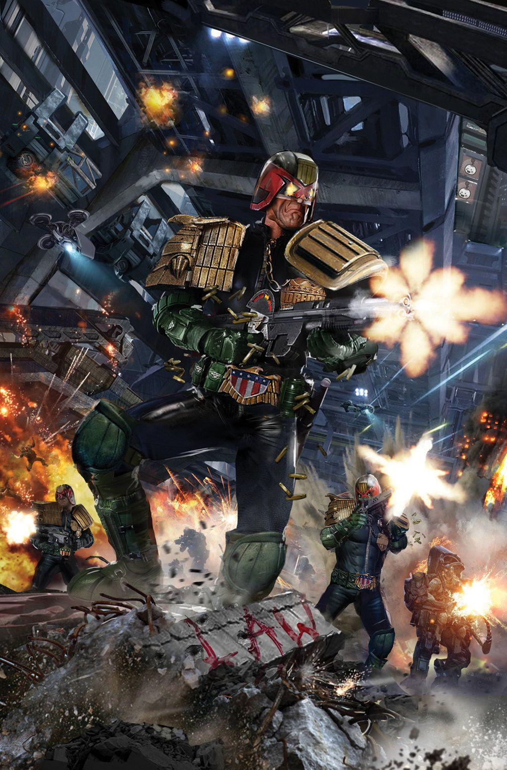 Idw Judge Dredd Toxic 2 By Uncannyknack Judge Dredd Power